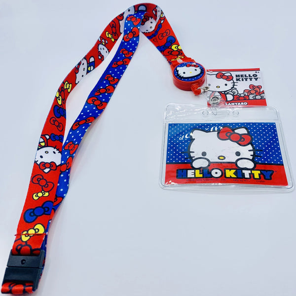 Hello Kitty Lanyard w/ Retractable Card Holder