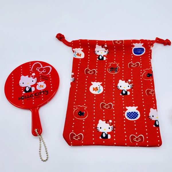 Hello Kitty Mirror & Drawstring Bag