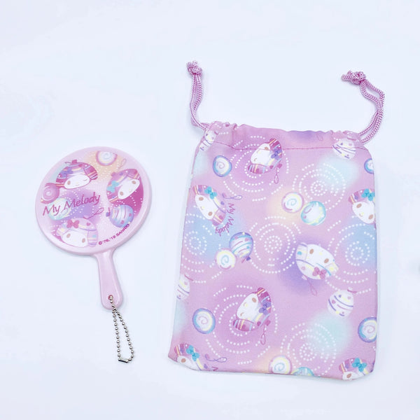 My Melody Mirror & Drawstring Bag