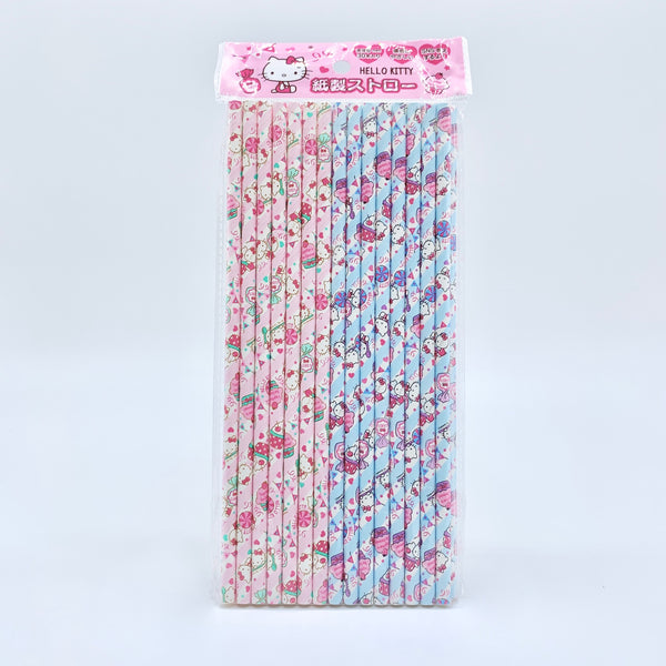 Hello Kitty Paper Straw Set
