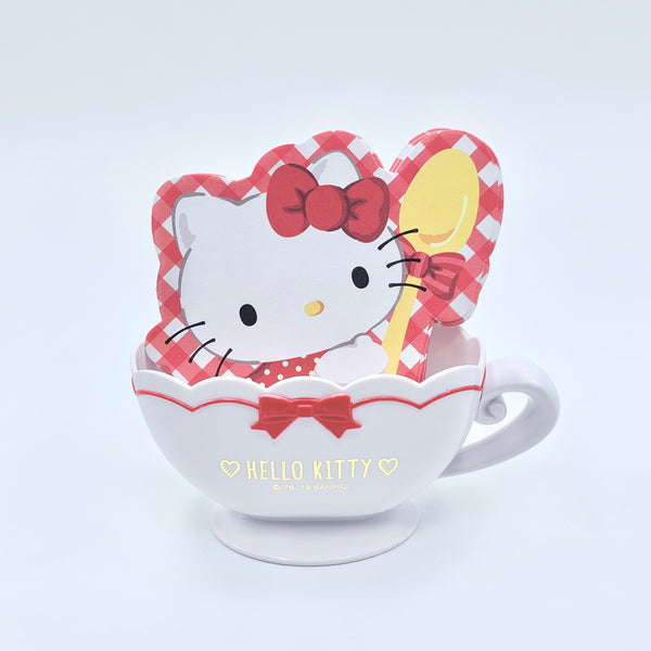 Hello Kitty Memo Sheets In Teacup Case