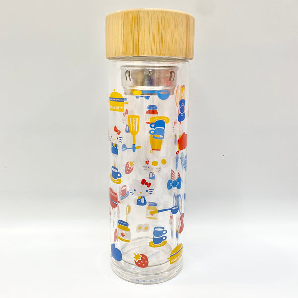 Hello Kitty Cooking Glass Bottle With Tea Filter