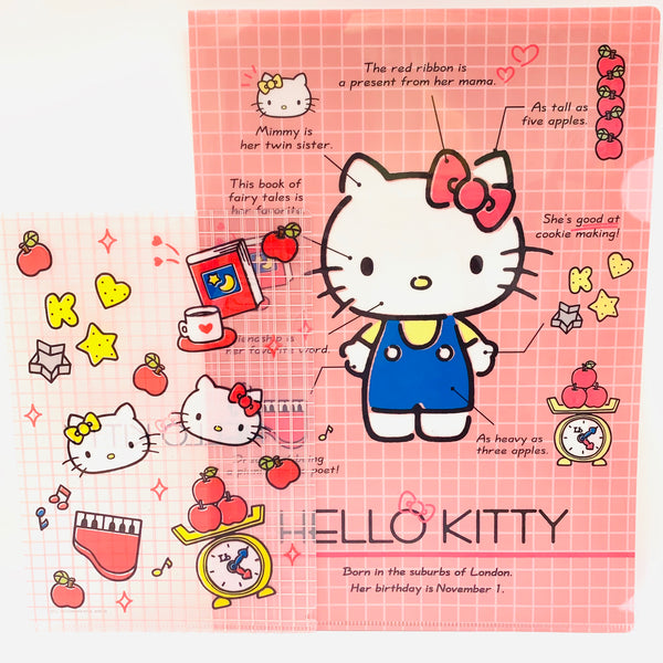 Hello Kitty Clear File 2 Piece Set Pink