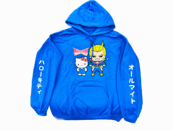 My Hero Academia All Might X Hello Kitty Hoodie
