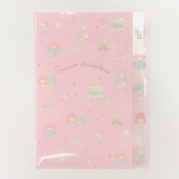 Sanrio Characters Trip Clear File Set Pink