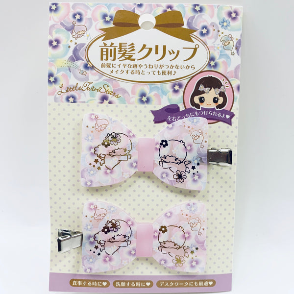 Little Twin Stars Floral Bow Hair Clips