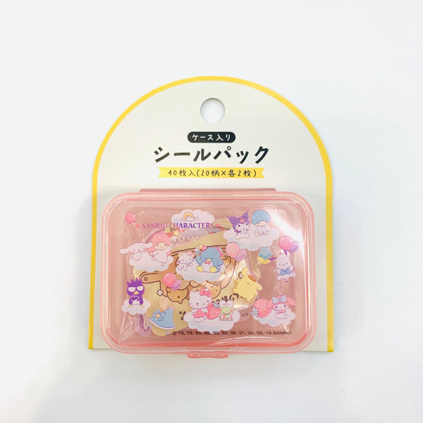 Sanrio Characters Stickers in a Pink Case