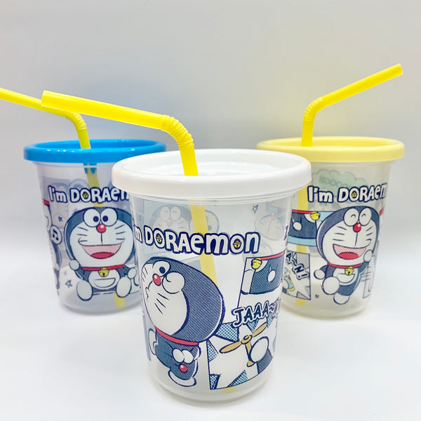 Doraemon Cups with Straws