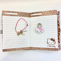 Hello Kitty Leopard Locking Diary