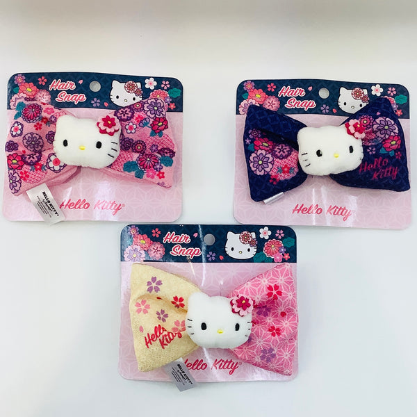 Hello Kitty Kimono Snap On Bows