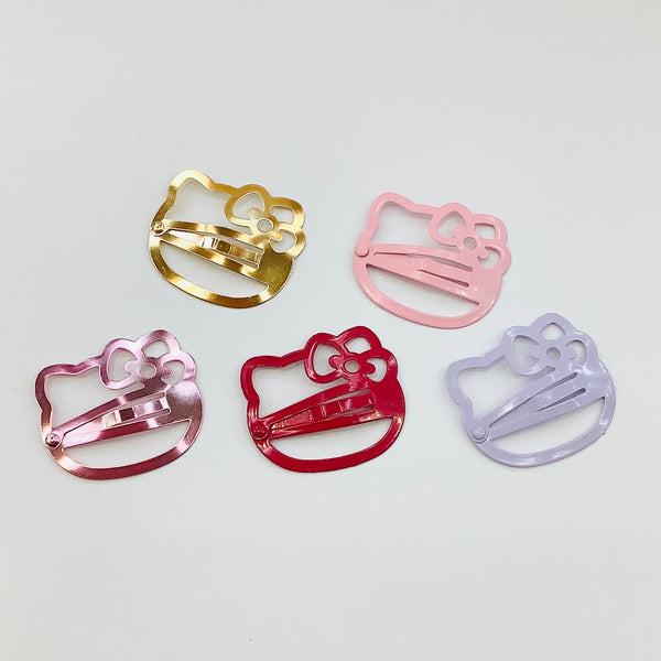 Hello Kitty Face Hair Clips