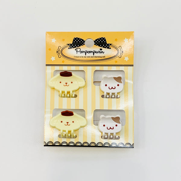 Pompompurin Mini D-Cut Hair Clips