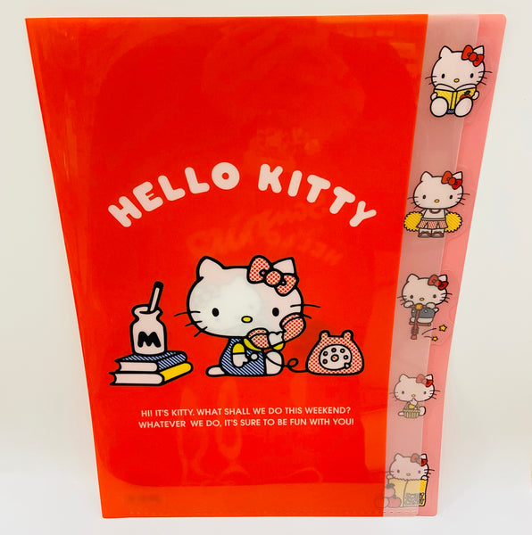 Hello Kitty Red D-cut Clear File