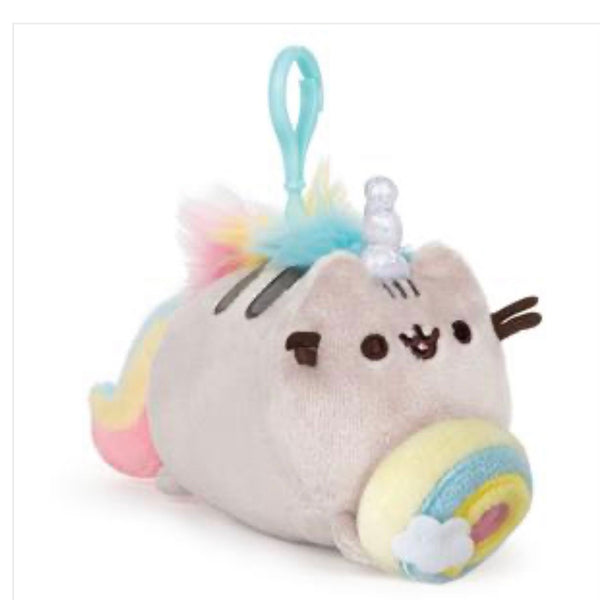 Rainbow Donut Pusheenicorn Plush Keyclip
