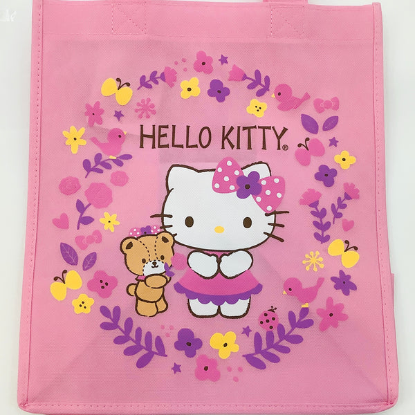 Hello Kitty Flower Circle Canvas Tote