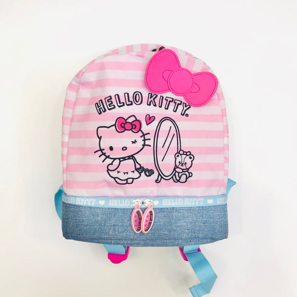 Hello Kitty Pink Stripe Small Backpack