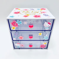 Hello Kitty Floral 3 Drawer Chest
