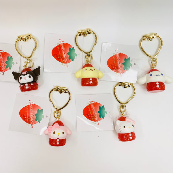 Sanrio Character Strawberry Keychains