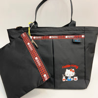 Hello Kitty X LeSportSac Small Everygirl Tote Black