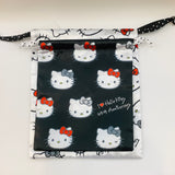 Hello Kitty 45th Anniversary Drawstring Bag 2 Piece Set