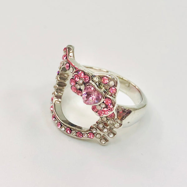 Hello Kitty Pink Rhinestone Ring