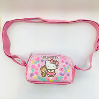 Hello Kitty Flower Circle Shoulder Pouch