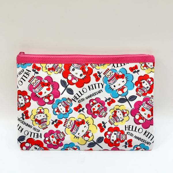 Hello Kitty Flower 45th Anniversary Flat Pouch