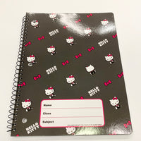 CHARMING PINK HELLO KITTY SPIRAL NOTEBOOK