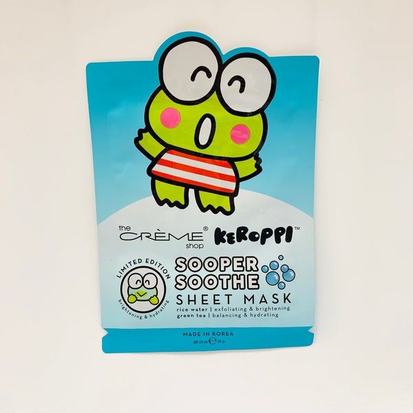 The Crème Shop x Keroppi Sheet Mask