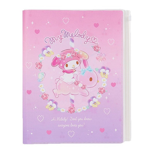 My Melody A4 Zip Pouch File Folder
