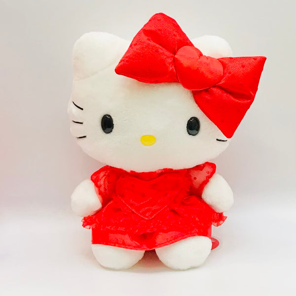 "Hello Kitty Red Dress Valentine 8"" Plush"