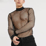 MAXI Mesh Turtleneck