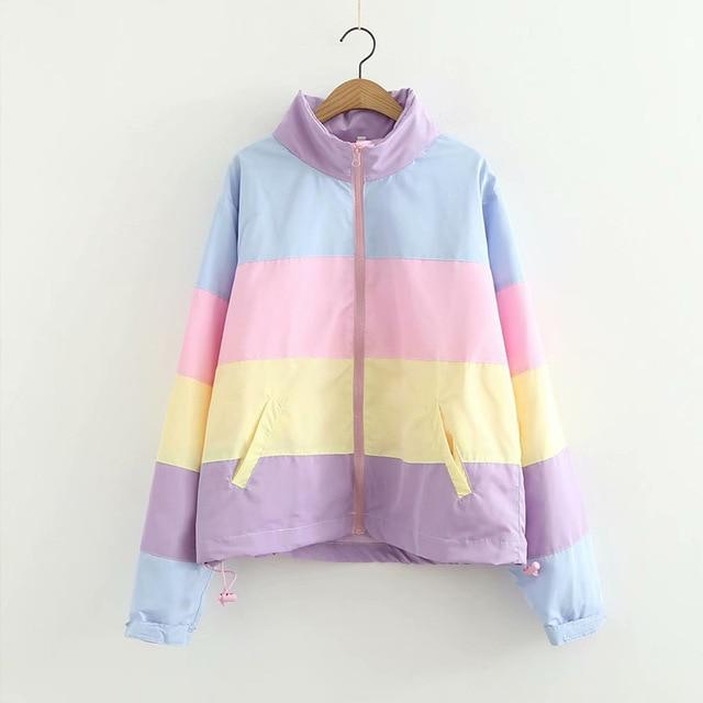 SAINT CHIC Parkas Spring Jackets / S RAINBOW Contrast  Jacket