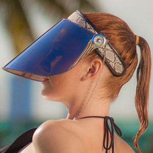 SAINTCHiC UV Visor EDGY PAPARAZZI VISOR - 50+ UPF - 99% UV PROTECTION