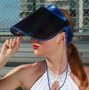 SAINTCHiC UV Visor One Size / Blue ROYAL BLUE PAPARAZZI VISOR™ 1.0 - 50+ UPF - 99% UV PROTECTION - Sun Hat