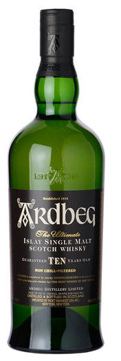 Ardbeg 10 Year Islay Single Malt Whisky 750ml