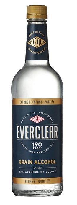 Everclear Grain Alcohol 190 Proof - 1,000ml