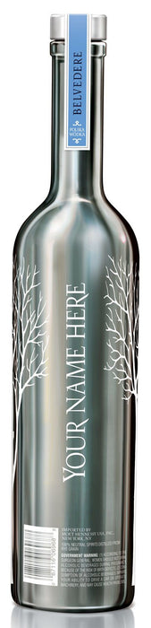 Belvedere Vodka 1,750ml LUMINOUS ENGRAVED Silver Saber