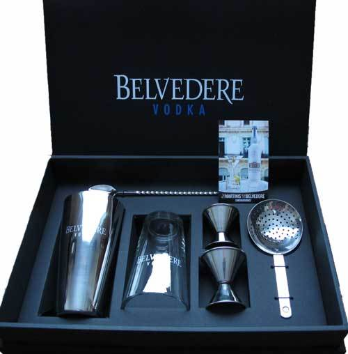Belvedere Vodka and Martini Set