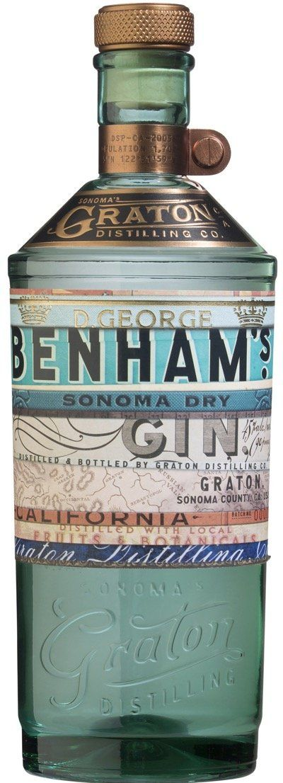 Benhams Sonoma Dry Gin 750ml