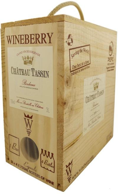Chateau Tassin Bordeaux Blanc 2018 - 3 Liter Wood Box