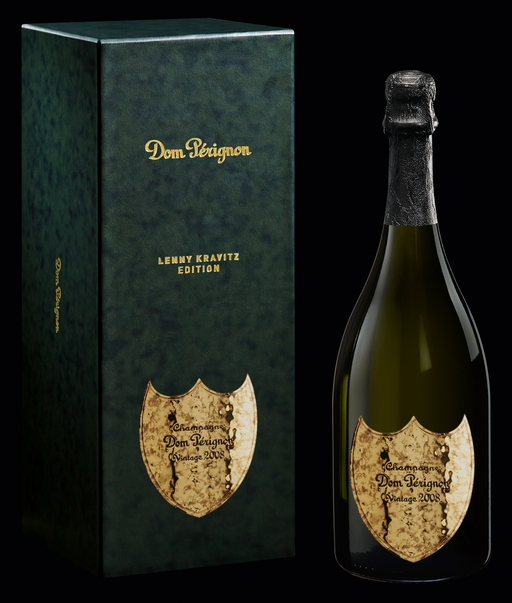 Dom Perignon Brut Champagne 2008 with Gift Box - Lenny Kravitz Limited Edition