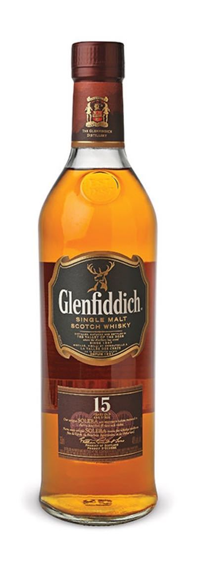 Glenfiddich 15 Year Old Single Malt Scotch Whisky 750ml