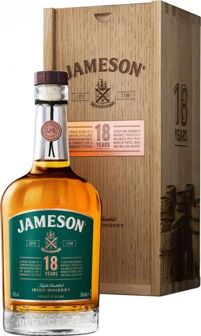 Jameson 18 Year Old Irish Whiskey 750ml - Gift Box