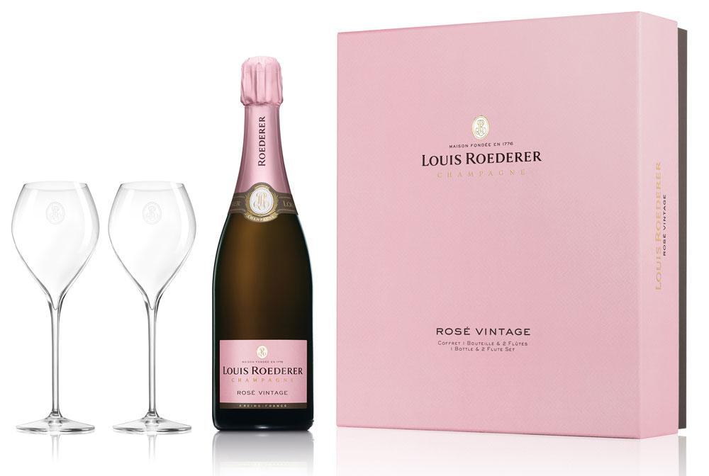 Louis Roederer Champagne Rose 2012 - Glass Set