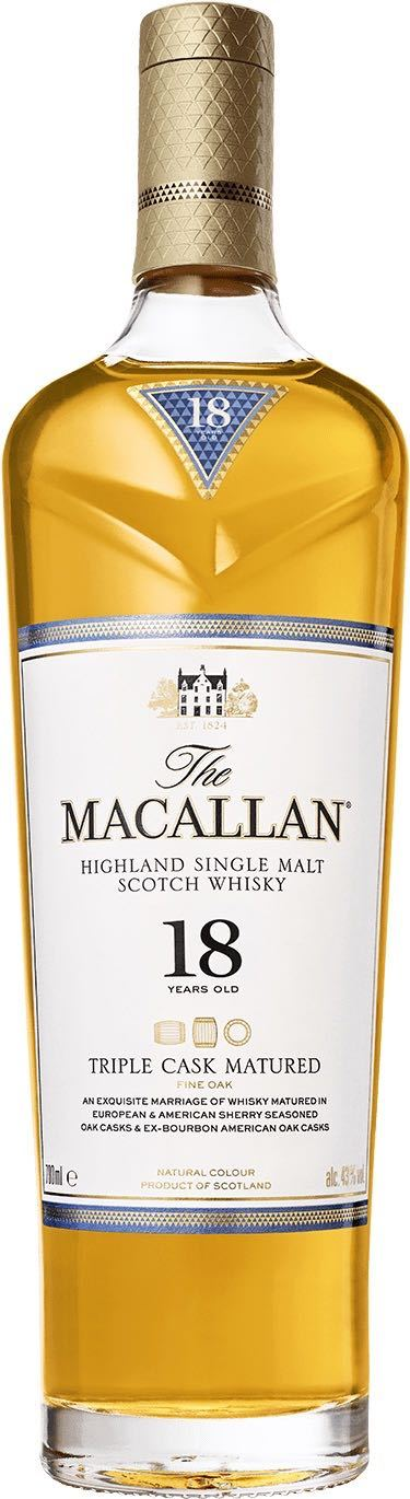 Macallan Triple Cask 18 Year Old Highland Single Malt Whisky 750ml