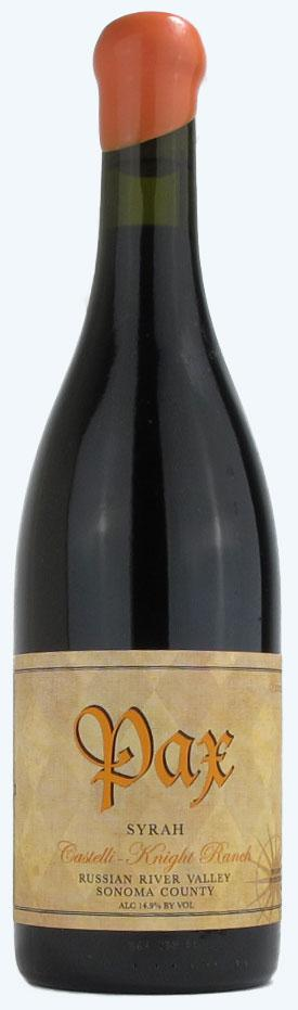 Pax Castelli-Knight Ranch Russian River Syrah 2012