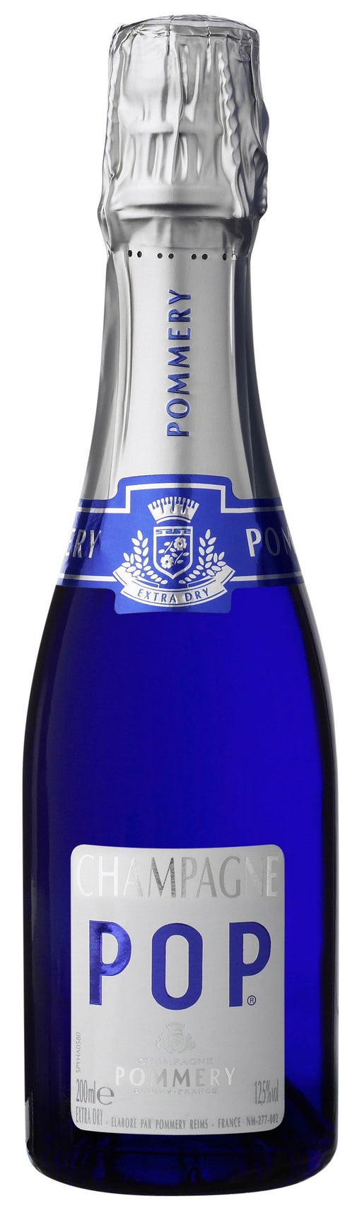 Pommery Pops Brut Champagne ~ 187ml 4pk with Straws