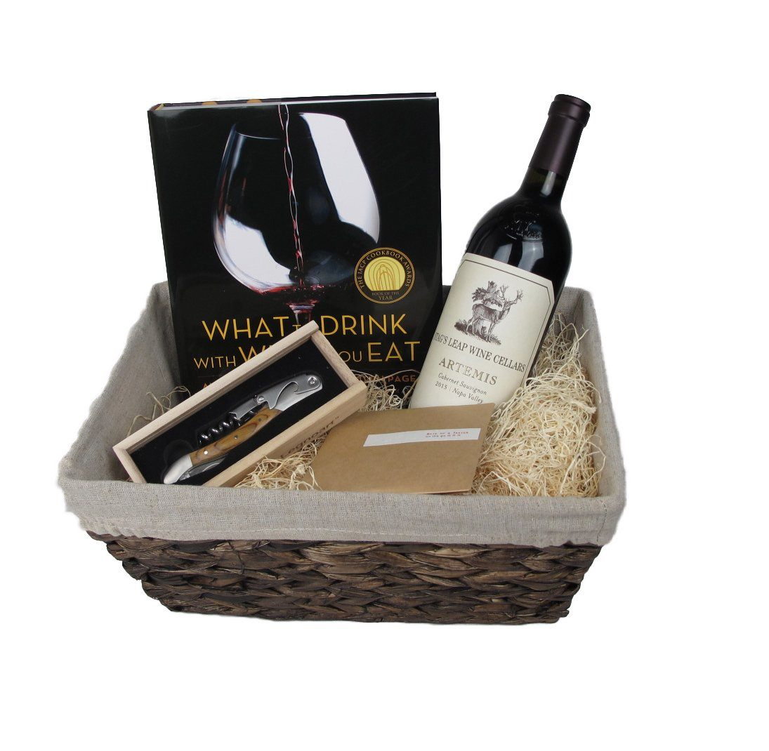 Wine Connoisseur Gift Basket with Stags Leap Napa Valley Cabernet Sauvignon