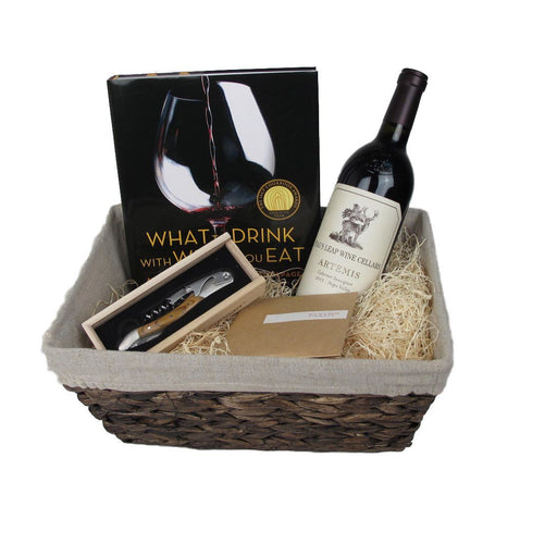 Wine Connoisseur Gift Basket with Stag's Leap Napa Valley Cabernet Sauvignon